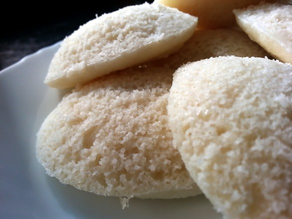 Homemade idlis South Indian style
