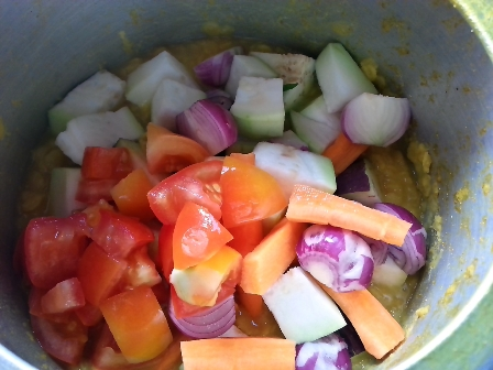 Sambar vegetables