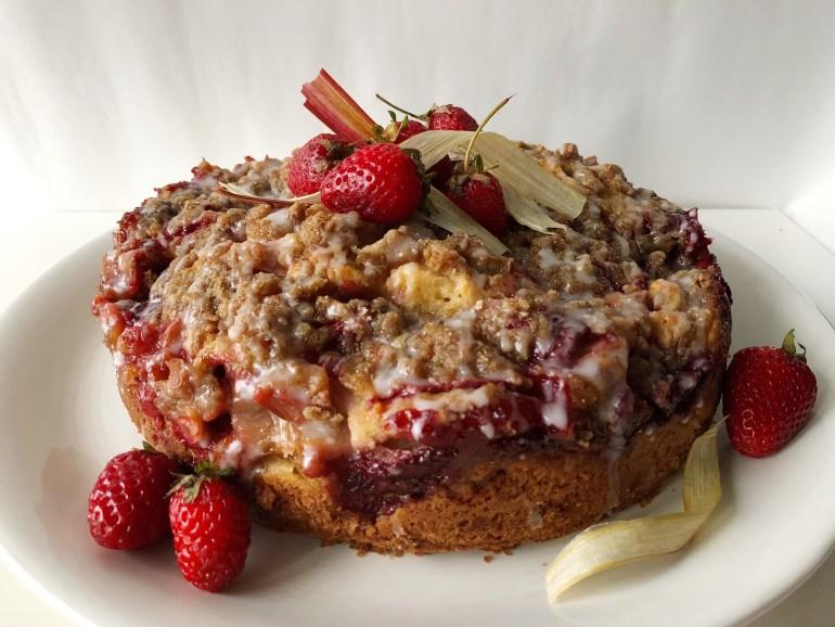 Strawberry Rhubarb Coffee Cake