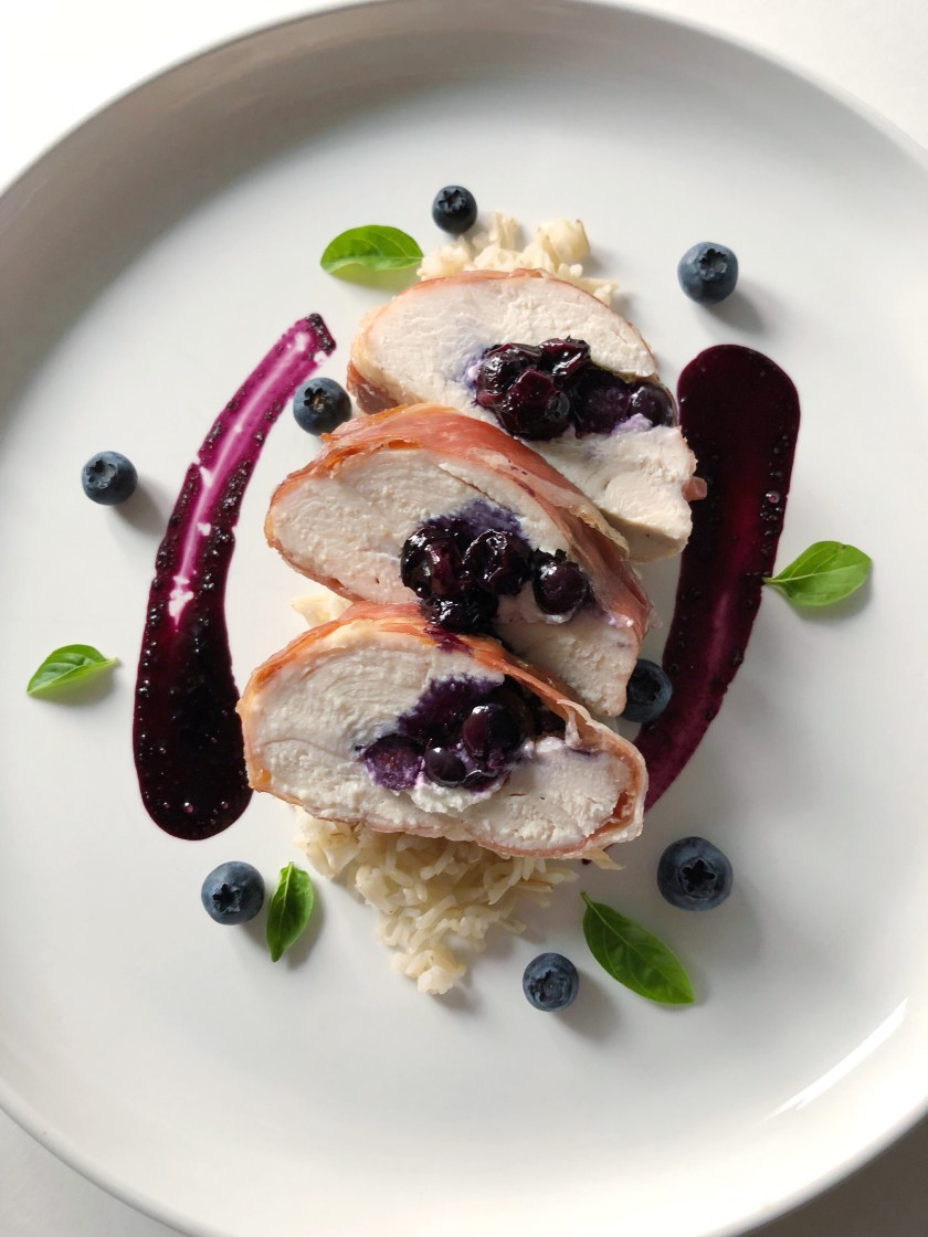 Blueberry stuffed chicken