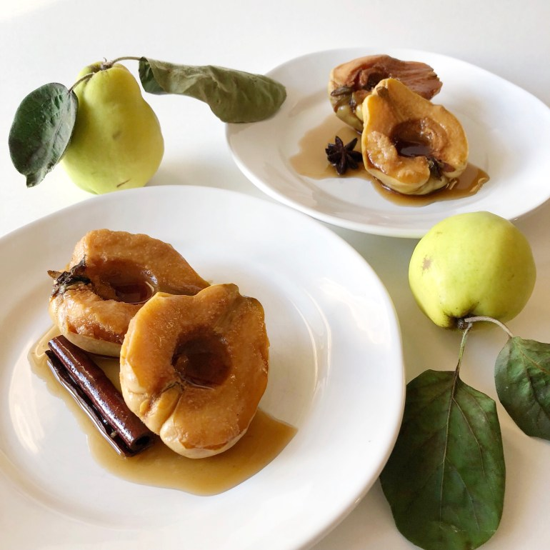 Chai-Poached Quince