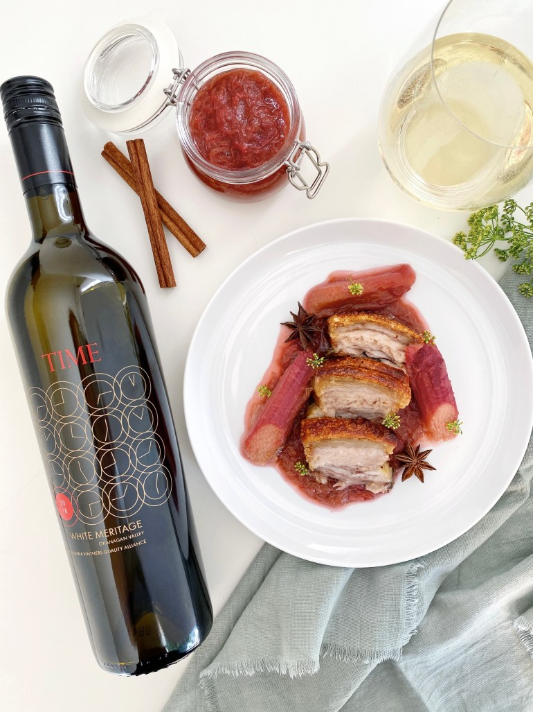 Five Spice Pork Belly with Rhubarb Compote - Season & Serve Blog