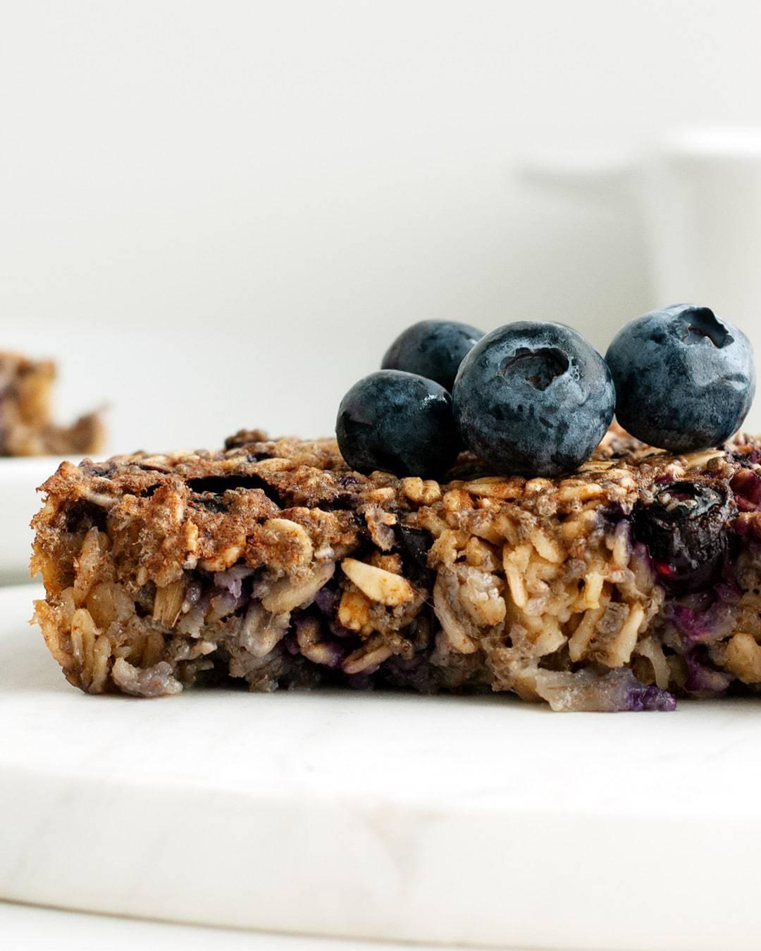blueberry maple oat bake