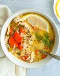 classic greek lemon soup