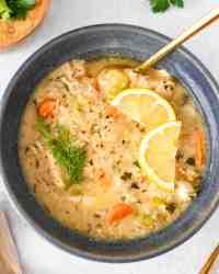 Classic Greek Lemon Chicken Soup