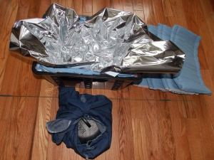"More Mylar and ""diaper"" for the pot."