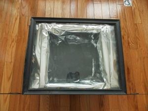 frame on box