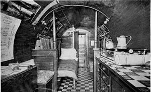 inside log home
