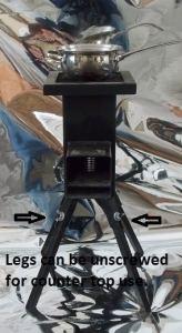 legs unscrewed
