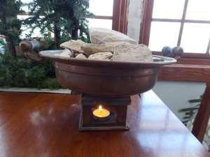 masonry bowl heater