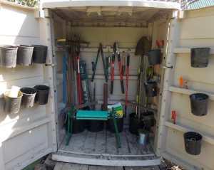 inside garden shed