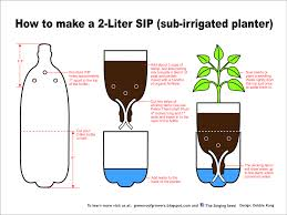 pop bottle planter diagram