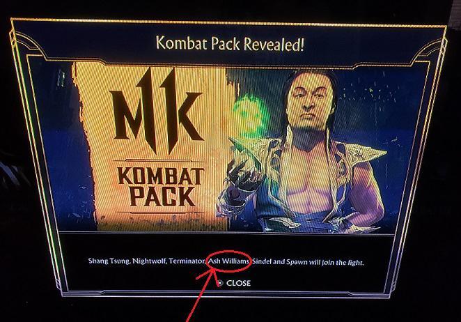 Ash Williams fue sustituido por el Joker para llegar a Mortal Kombat 11