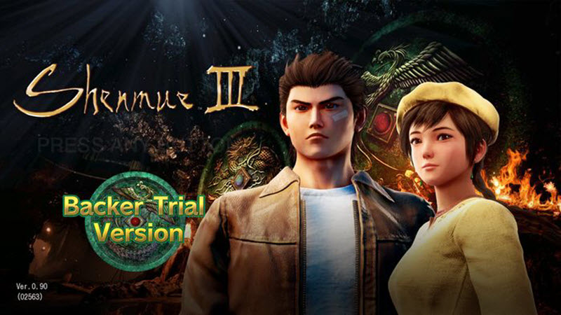 Shenmue 3 Trial Version Available this weekend