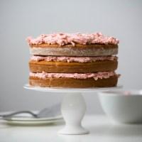 Vegan Strawberry Vanilla Cake with Strawberry Buttercream