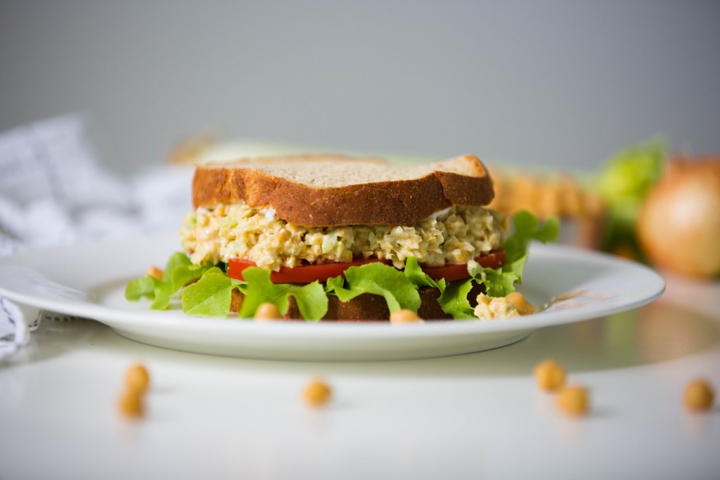 Chickpea Chicken Style Salad Sandwich