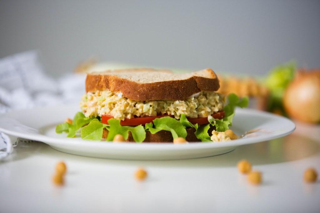 Chickpea Chicken Style Salad Sandwich
