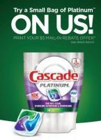Free Cascade dish detergent