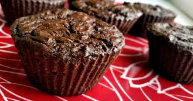 Recipe: Double-Chocolate Zucchini Muffins (gluten-free, vegan)