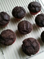 Dark Chocolate Apple Cider Muffins (Vegan, One-Bowl Recipe)