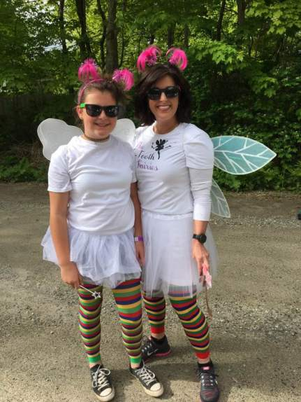 Our tu-tooth fairy assistant, Michelle, and daughter.