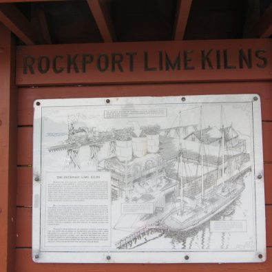 Rockport Lime Kilns information at the park in Rockport