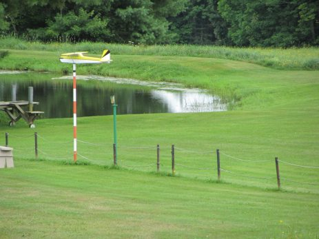 This field is where the locals gather to fly their remote control air planes in Union, Maine