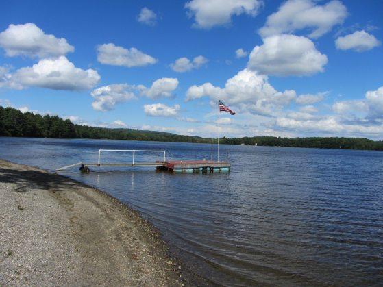 Beach on Sennebec Lake