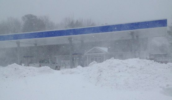 One of the few places open during the blizzard. Maritime Farms.