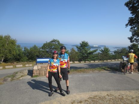 This is day four of Bike Maine 2013 Inaugural ride. Overall we had seen lots of rain, wind and fog. We rode into Bar Harbor Maine, and the weather come out with Maine's finest. Thank you Lanita for joining me.