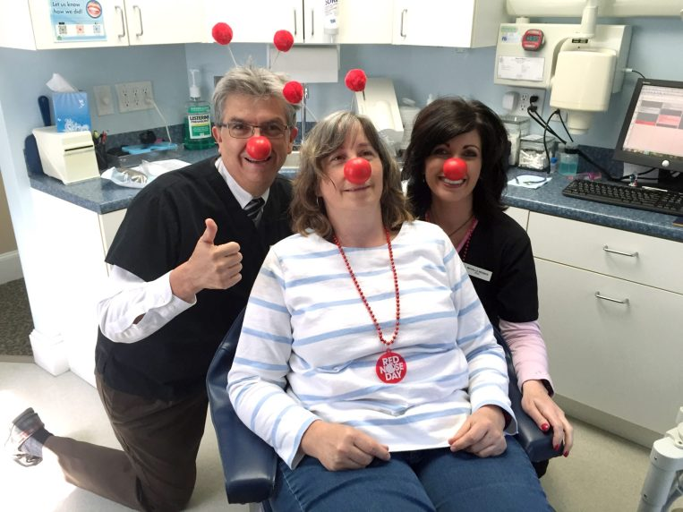 Dr. Medina, Stephanie, Michelle. Red Nose Day 2016