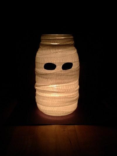 Mason Jar Mummy