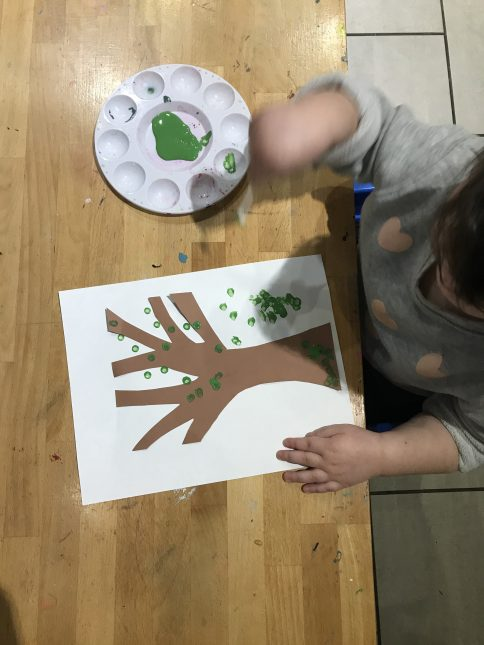 qtip painting for toddlers