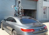 Mercedes Benz S500 with SeaSucker Mini Bomber Bike Rack