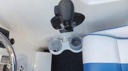 SeaSucker 2 Cup Holder Vertical Mount below outboard throttle.