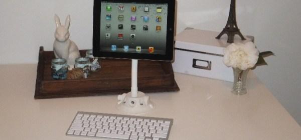 SeaSucker White iPad Galaxy Mount in study