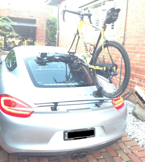 Porsche Cayman S Bike Rack