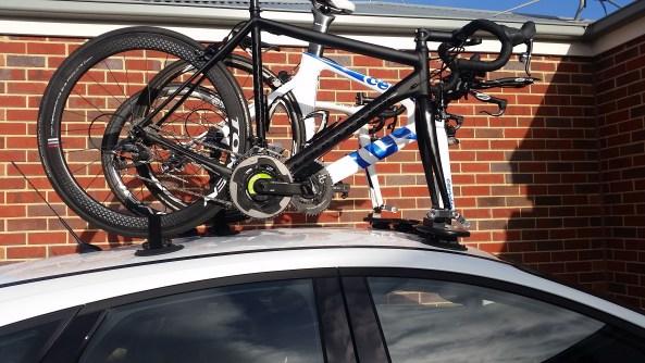 Ford Focus - The SeaSucker Bomber Bike Rack side view