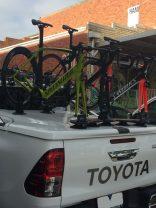 Toyota Hilux SR5 with SeaSucker Bomber Bike Rack