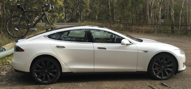 Tesla Model S Bike Rack Seasucker Down Under