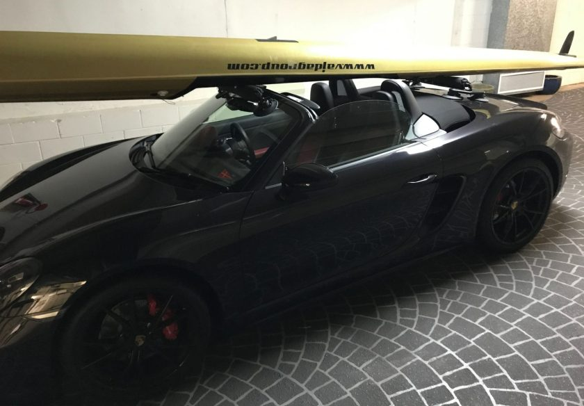 Porsche 718 Boxster S - The SeaSucker Paddle Board Rack