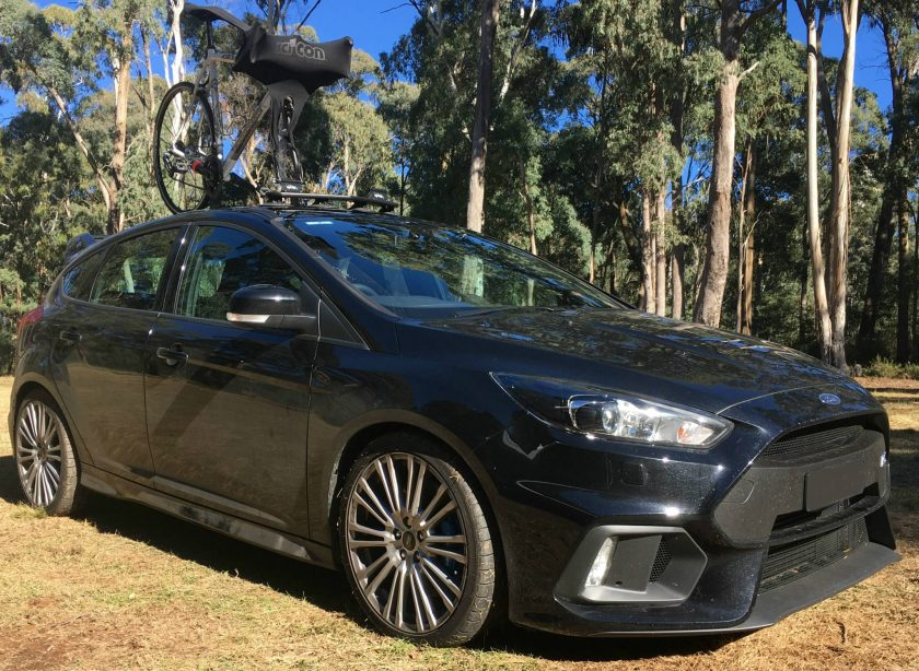 Ford Focus RS Bike Rack - the SeaSucker Mini Bomber
