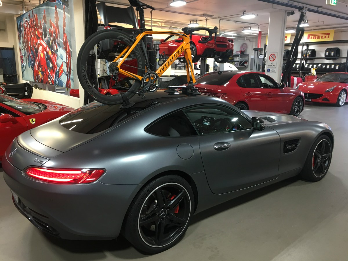 Mercedes AMG GTs Bike Rack