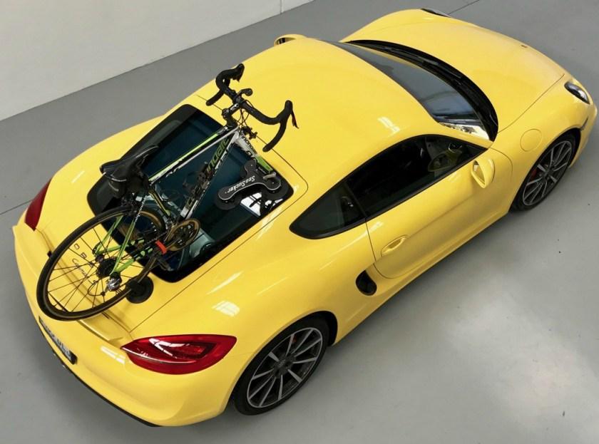 Porsche Cayman S 981 Bike Rack - The SeaSucker Talon