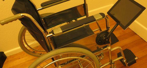 Wheelchair Tablet Mount - The SeaSucker Black iPad / Galaxy Mount