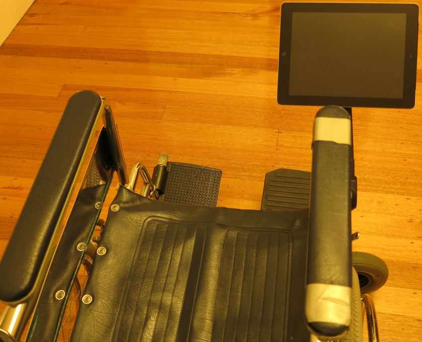 Wheelchair Tablet Mount - The SeaSucker Black iPad / Galaxy Mount