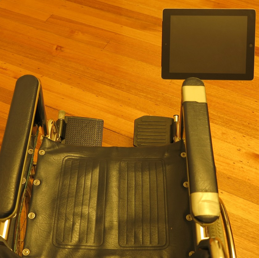 Wheelchair Tablet Mount - SeaSucker White iPad Galaxy Mount
