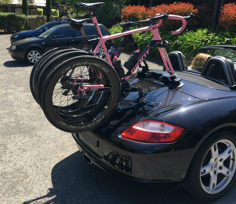 Porsche Boxster Bike Rack - The SeaSucker Mini Bomber