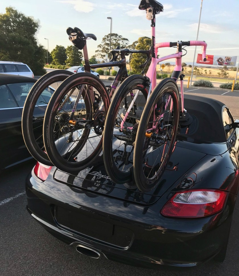 Porsche Boxster Bike Rack - The SeaSucker Mini Bomber