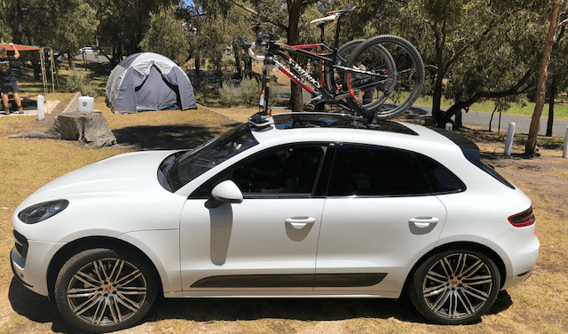 Porsche Macan Bike Rack - The SeaSucker Mini Bomber 2-Bike Rack